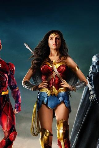 iPhone Wallpaper Justice League, DC Comics movie, superheroes