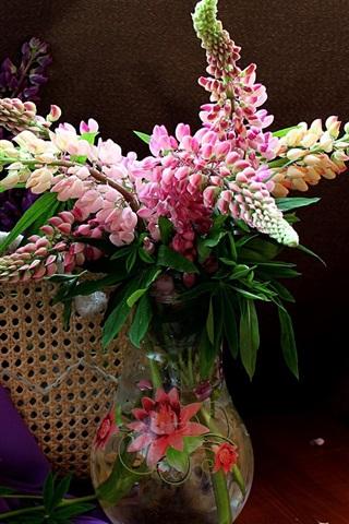 iPhone Papéis de Parede Lupins flores, ainda vida