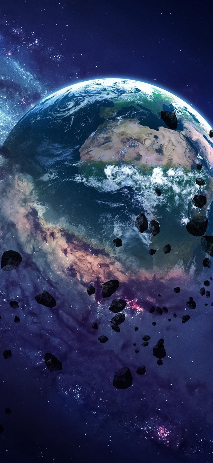 Wallpaper planet destruction rocks space 3840x2160 uhd - Space 4k phone wallpaper ...
