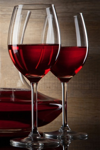 Red Wine Bottle And Glass Cups 640x1136 Iphone 5 5s 5c Se Wallpaper Background Picture Image