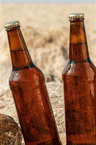 iPhone Wallpaper Three bottles beer