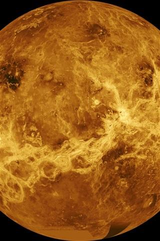 iPhone Papéis de Parede Vênus, Sistema Solar, planeta, espaço