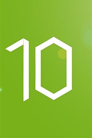 iPhone Papéis de Parede Windows10, fundo verde