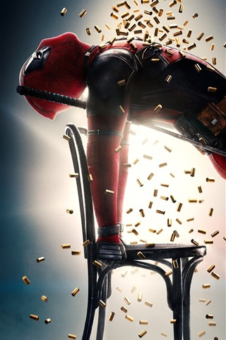 iPhone Wallpaper 2018 movie, Deadpool 2