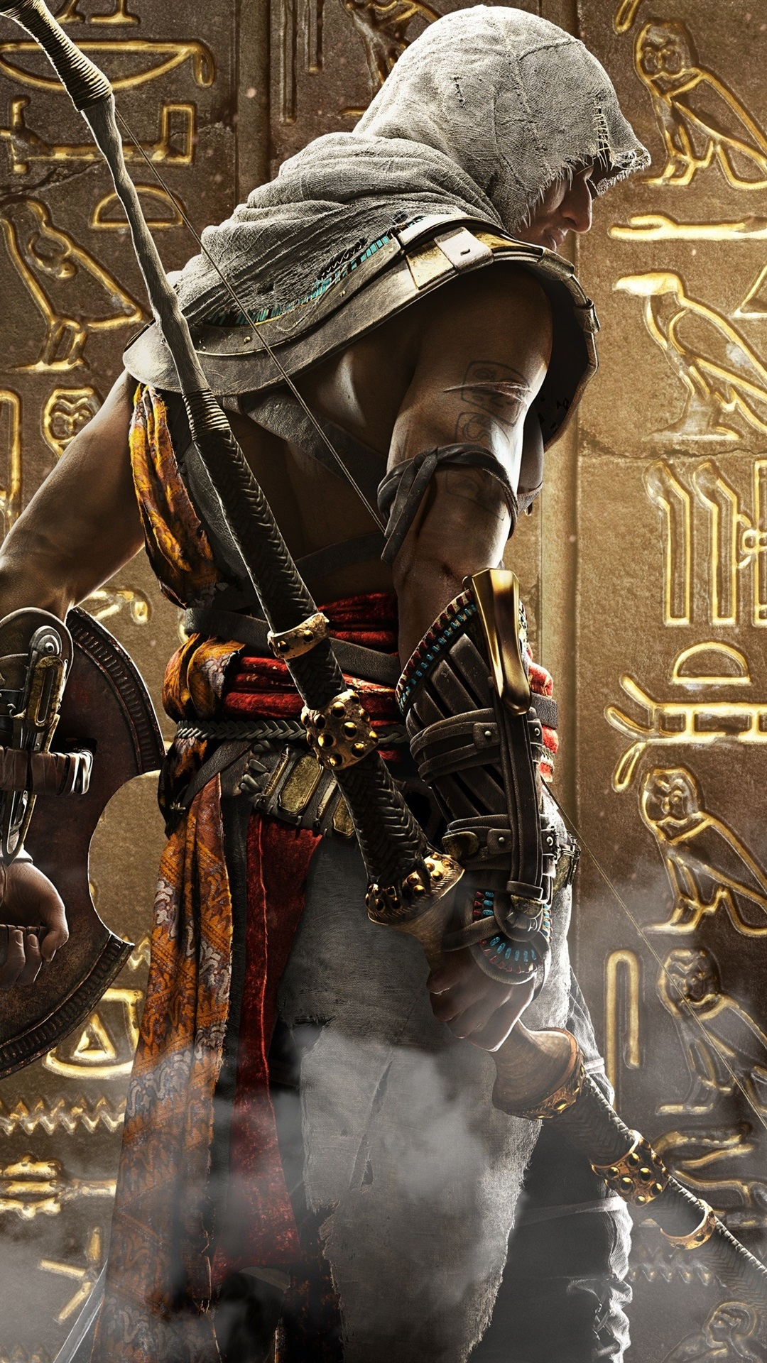 Assassin S Creed Origins Ubisoft Back View 1080x1920 Iphone 8 7 6 6s Plus Wallpaper Background Picture Image