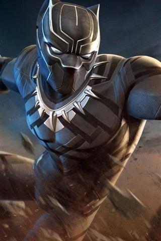 iPhone Wallpaper Black Panther, hands, superhero