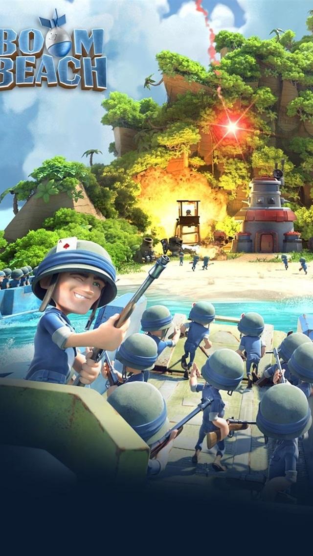 Boom Beach, mobile games 640x1136 iPhone 5/5S/5C/SE wallpaper