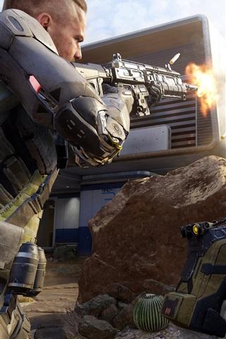 iPhone Papéis de Parede Call of Duty: Black Ops 3, soldados