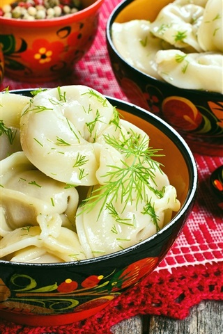 iPhone Wallpaper Chinese delicacy, dumplings, spices