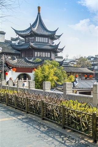 iPhone Wallpaper City, retro, houses, China