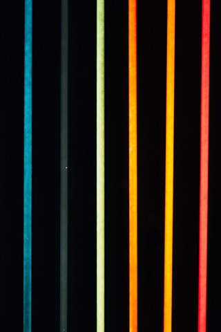 iPhone Wallpaper Colorful neon lights, lines