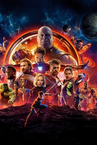 iPhone Wallpaper DC Comics movie, Avengers 3: Infinity War