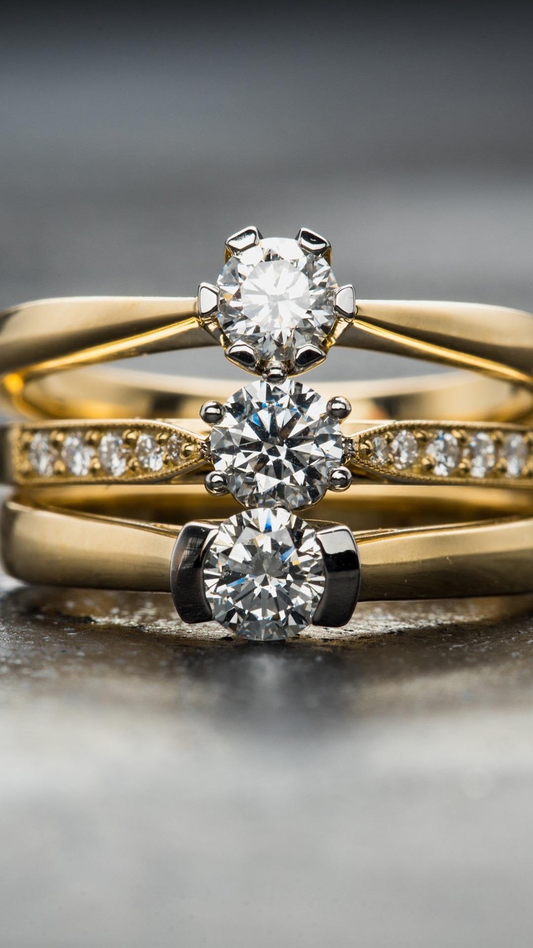 Diamonds Rings Gold 1080x1920 Iphone 8 7 6 6s Plus Wallpaper