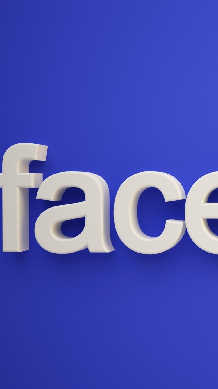 Facebook Logo Blue Background 750x1334 Iphone 8 7 6 6s