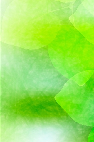 iPhone Wallpaper Green leaves, fresh, creative design