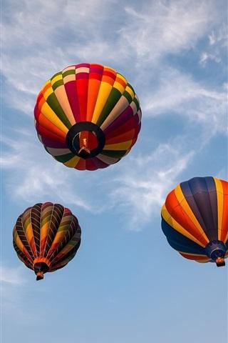 iPhone Wallpaper Hot air balloons, sky, clouds