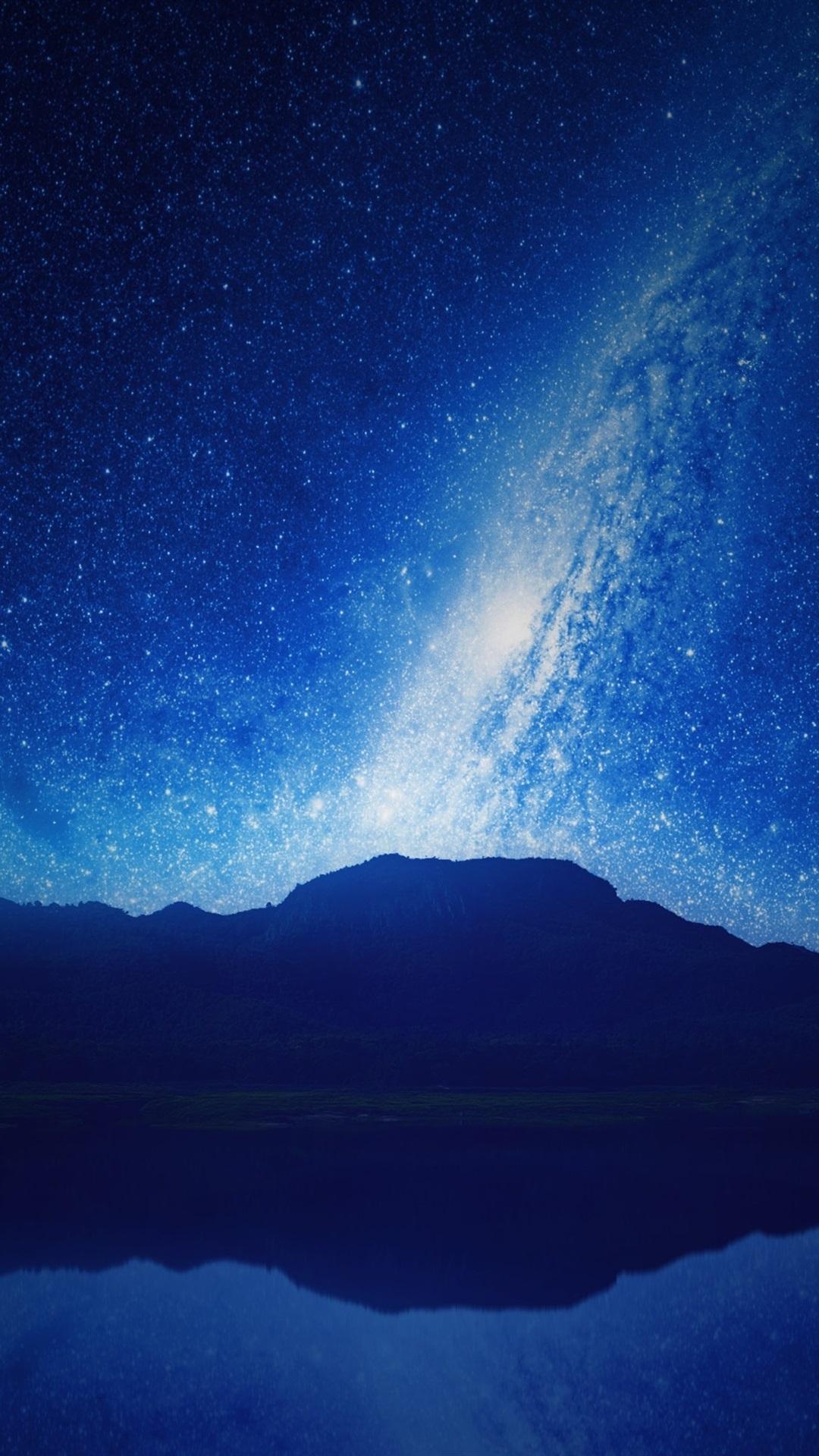 Wallpaper night mountains lake reflection starry sky - Starry sky 4k ...