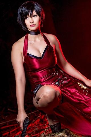 iPhone Papéis de Parede Resident Evil 4, garota de cosplay