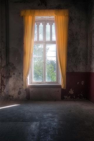 iPhone Wallpaper Room, window, light