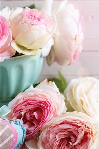 iPhone Wallpaper Roses, love heart, romantic