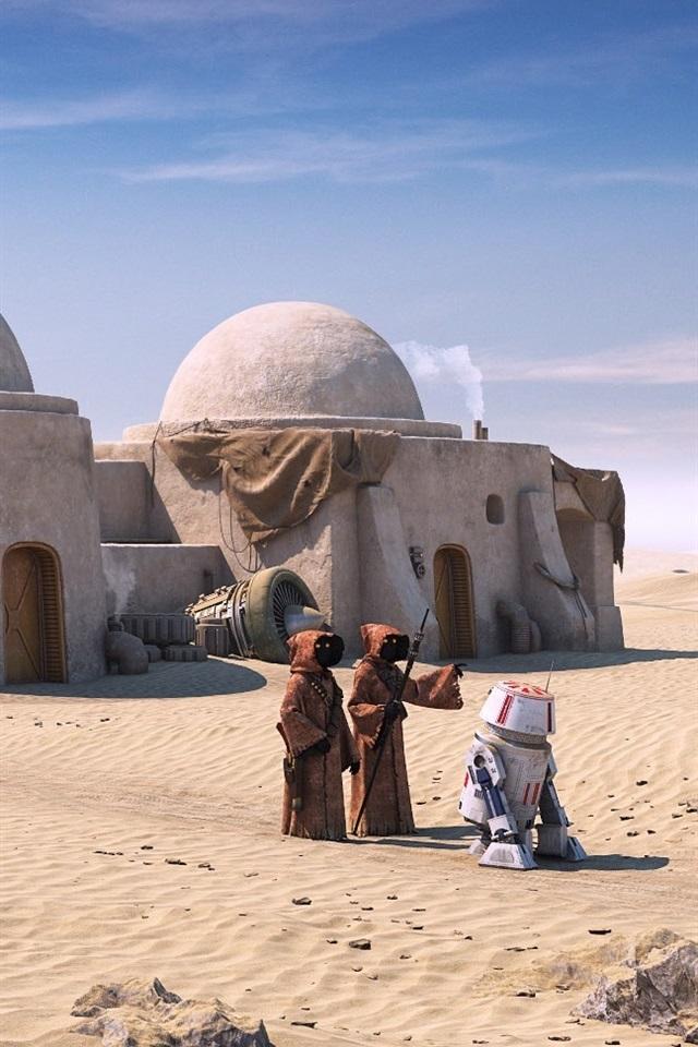 Wallpaper Star Wars Tatooine Robot Desert 1920x1080 Full Hd 2k Picture Image