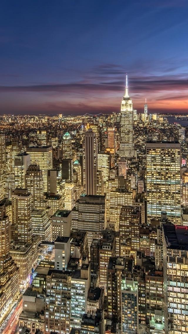 壁紙 アメリカ ニューヨーク 高層ビル ライト 街の夜 19x10 Hd 無料のデスクトップの背景 画像