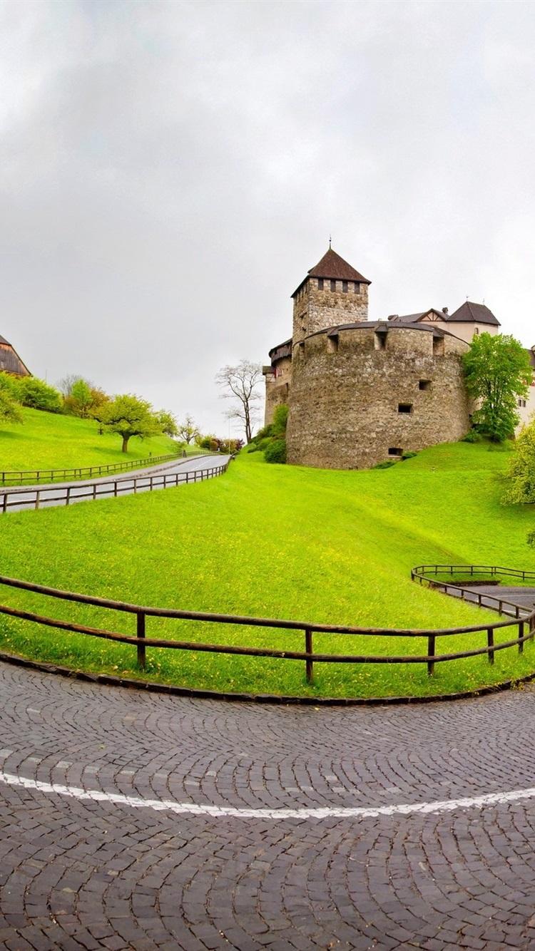 Vaduz Liechtenstein Road Grass Trees Houses 750x1334 Iphone 87