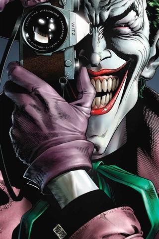 Wallpaper Villain, joker, teeth, camera, DC Comics 1920x1080