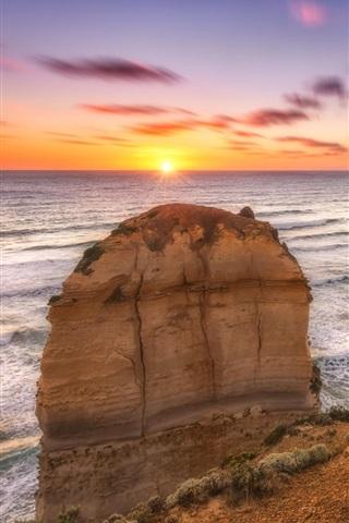 iPhone Wallpaper 12 Apostles coast, sea, Melbourne, Victoria, Australia