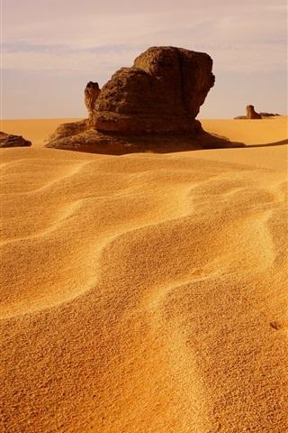 iPhone Wallpaper Algeria, dunes, desert, stones