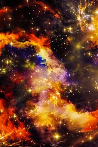 iPhone Wallpaper Beautiful space, universe, stars, shine