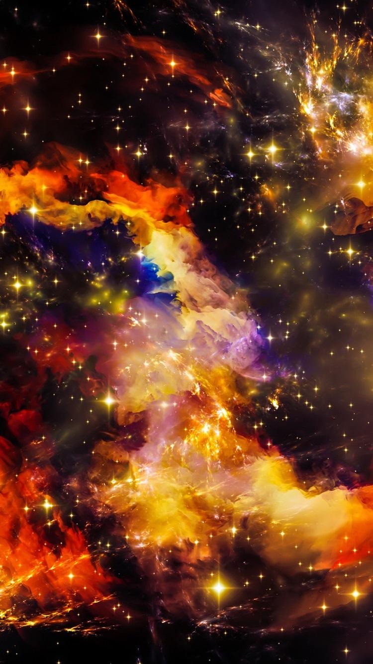 美しい宇宙 宇宙 星 輝き 750x1334 Iphone 8 7 6 6s 壁紙 背景 画像