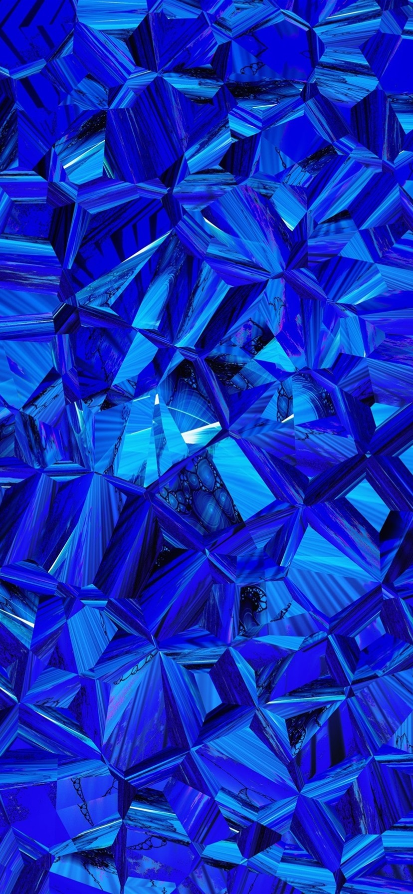 Fonds D Ecran Prismatique Bleu Image Abstraite 3840x2160 Uhd 4k Image