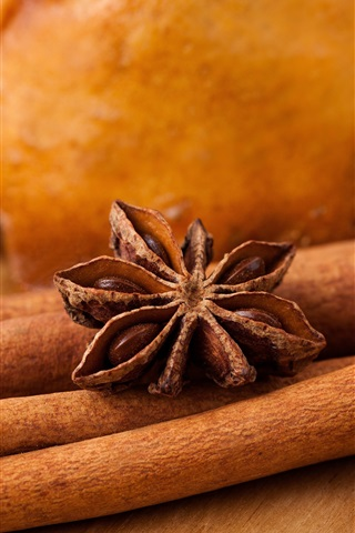 iPhone Wallpaper Cinnamon, star anise, spices