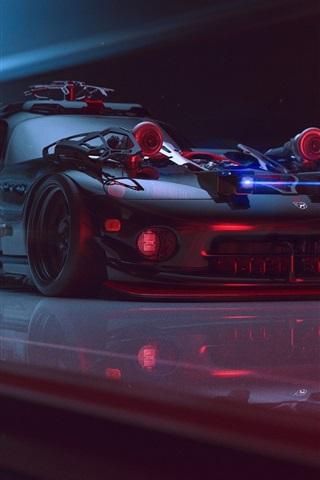 iPhone Wallpaper Dodge Viper future supercar