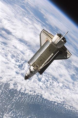 iPhone Обои Земля, космический корабль, НАСА