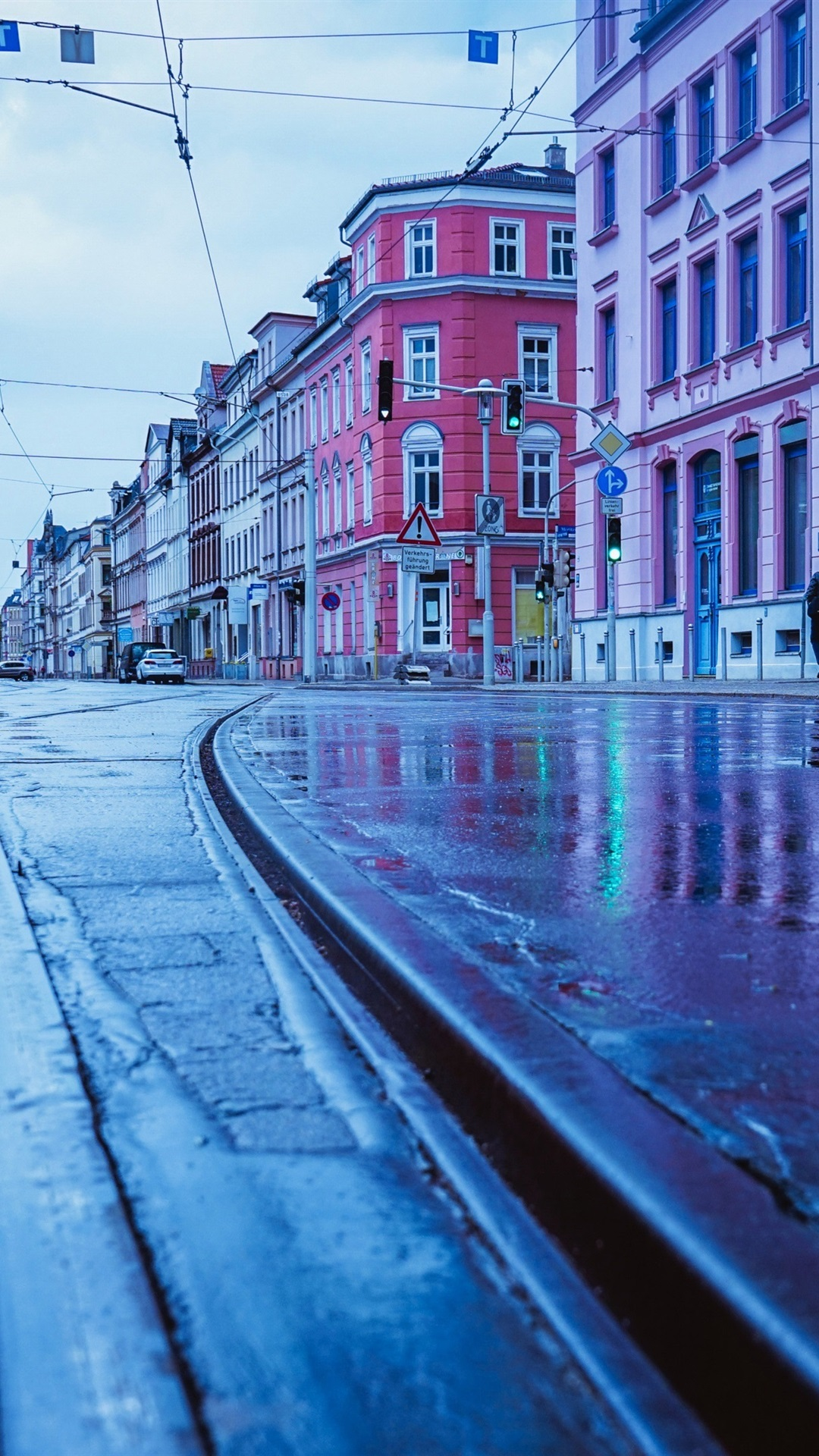 Wallpaper Germany Rainy Day City Street Wet Ground 3840x2160