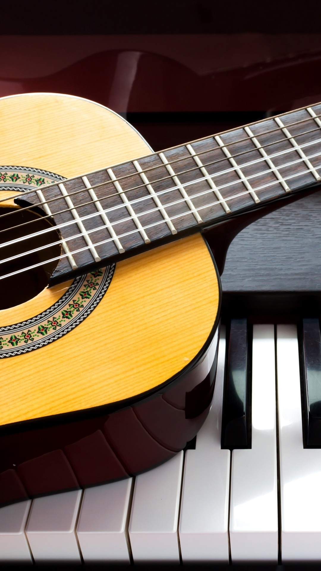 Guitar And Piano Music Theme 1080x1920 Iphone 8 7 6 6s Plus