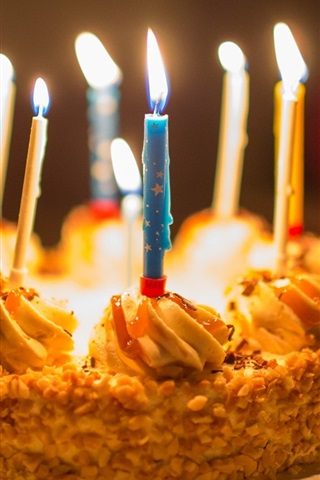 Strange Happy Birthday Cake Candle 640X1136 Iphone 5 5S 5C Se Wallpaper Funny Birthday Cards Online Elaedamsfinfo