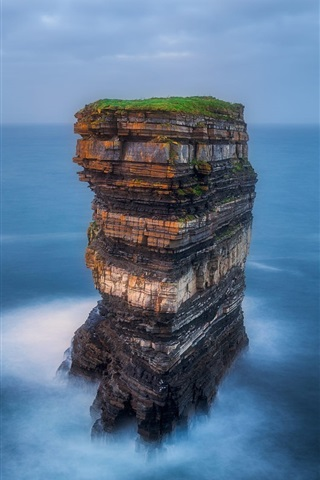 iPhone Wallpaper Ireland, sea, rocks, nature landscape