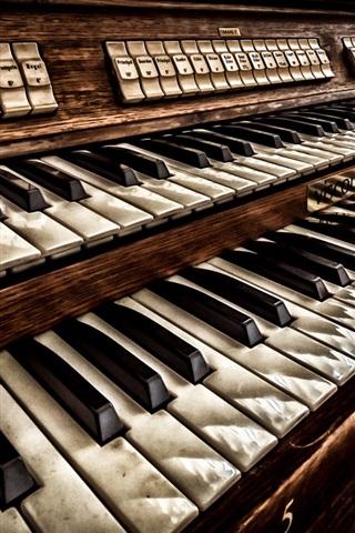 iPhone Wallpaper Keyboard instrument, music