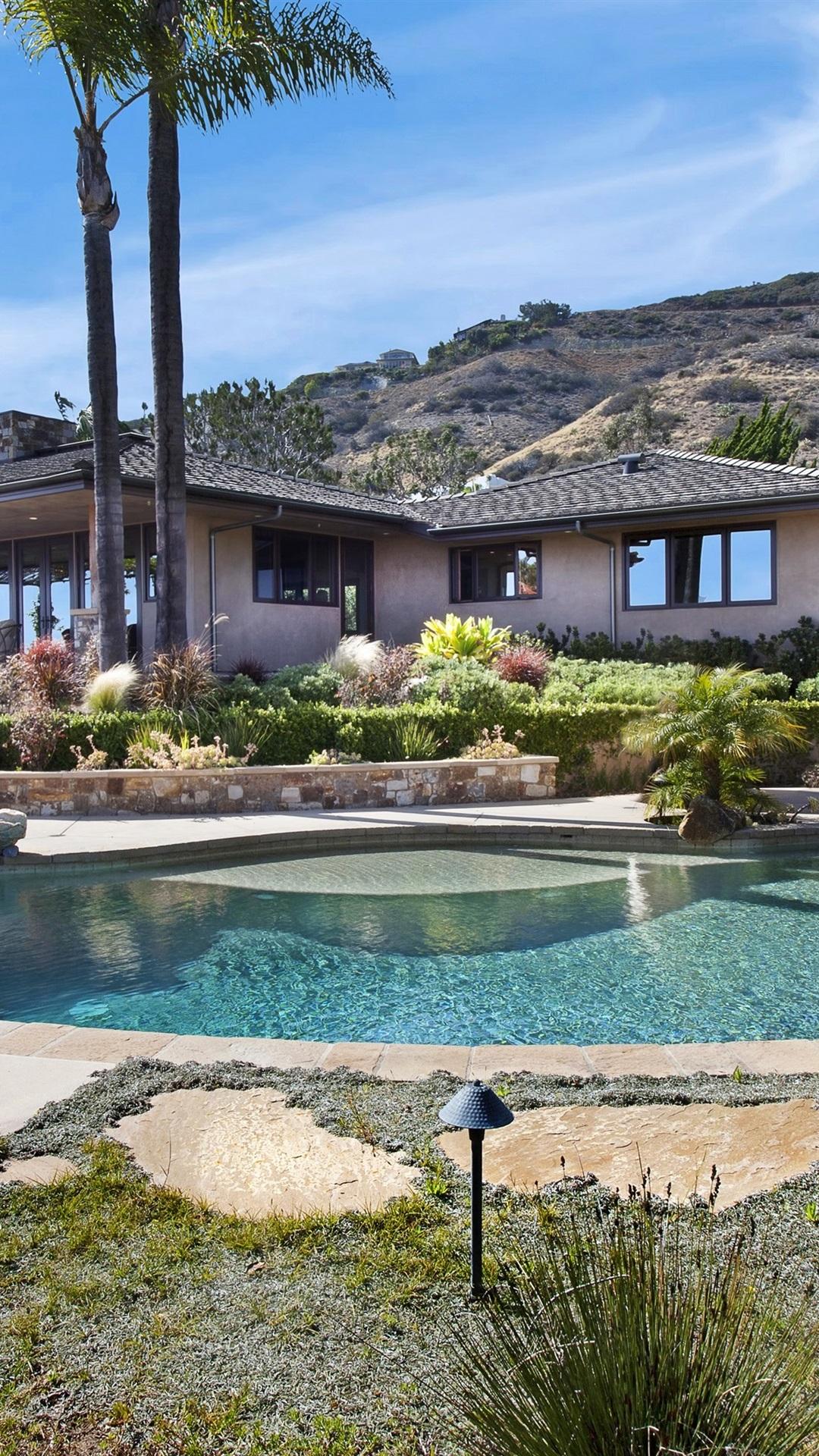Wallpaper Laguna Beach House Palm Trees Pool Usa 3840x2160 Uhd 4k Picture Image