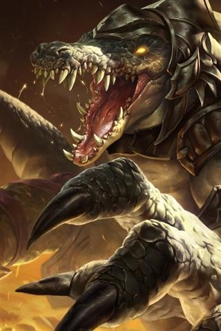 iPhone Papéis de Parede League of Legends, monstro, dentes, imagens de arte