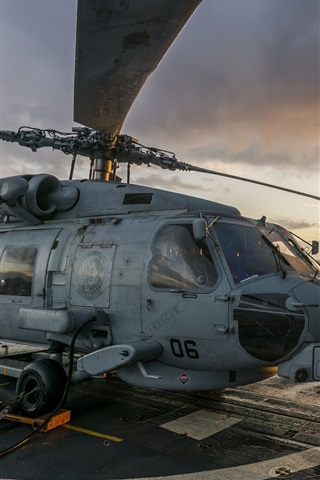 iPhone Wallpaper MH-60R Seahawk helicopter