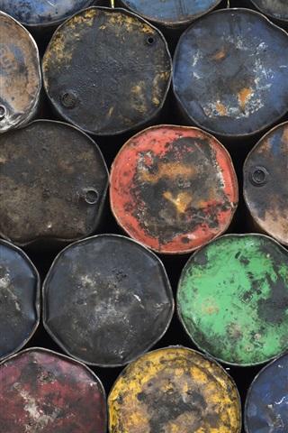 iPhone Wallpaper Many oil barrels, colors