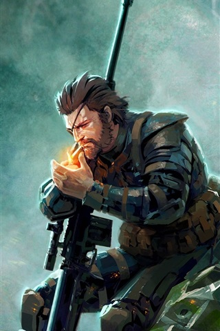 iPhone Wallpaper Metal Gear Solid V: The Phantom Pain, art picture