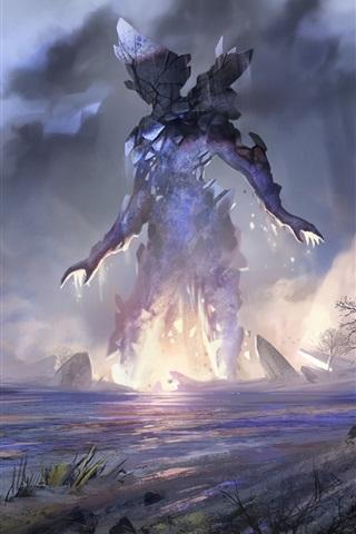 iPhone Papéis de Parede Monstro, arqueiro, arco, imagens de arte