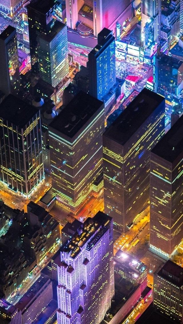 Fonds D Ecran New York Etats Unis Paysage Urbain Nuit Gratte Ciels Lumieres 1920x1200 Hd Image