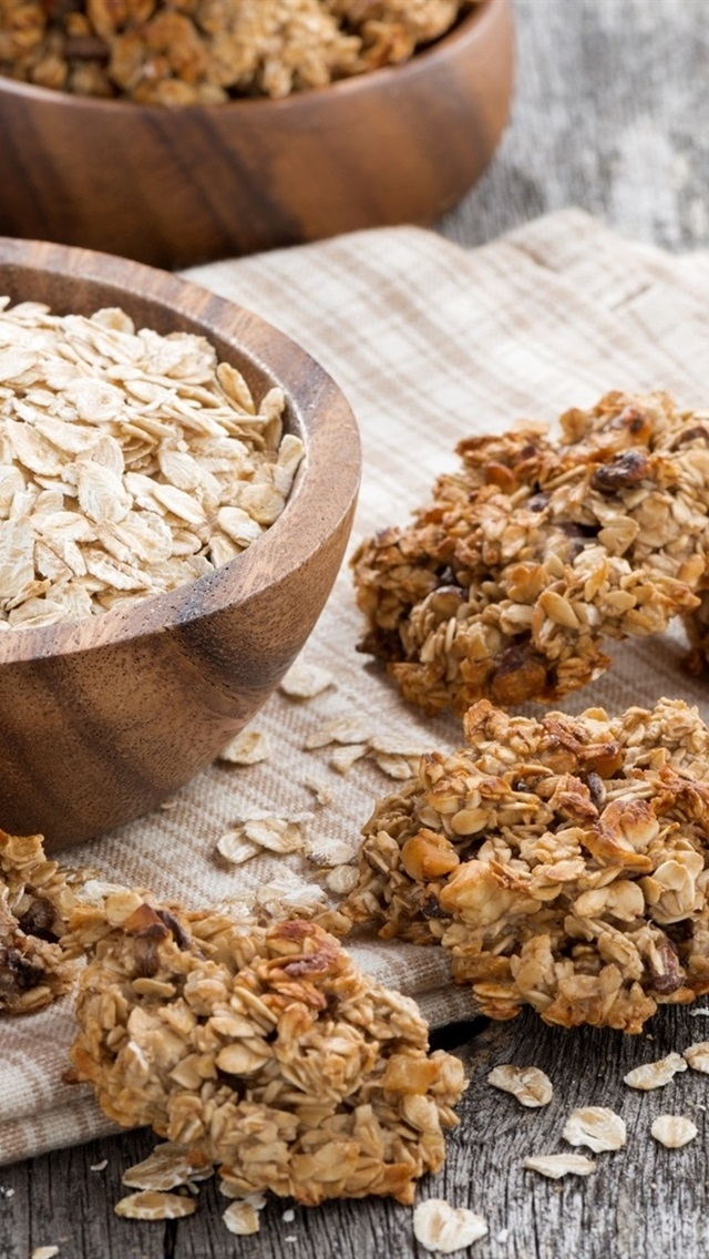 Wallpaper Oatmeal Milk Cookies Food 1920x1200 Hd Picture