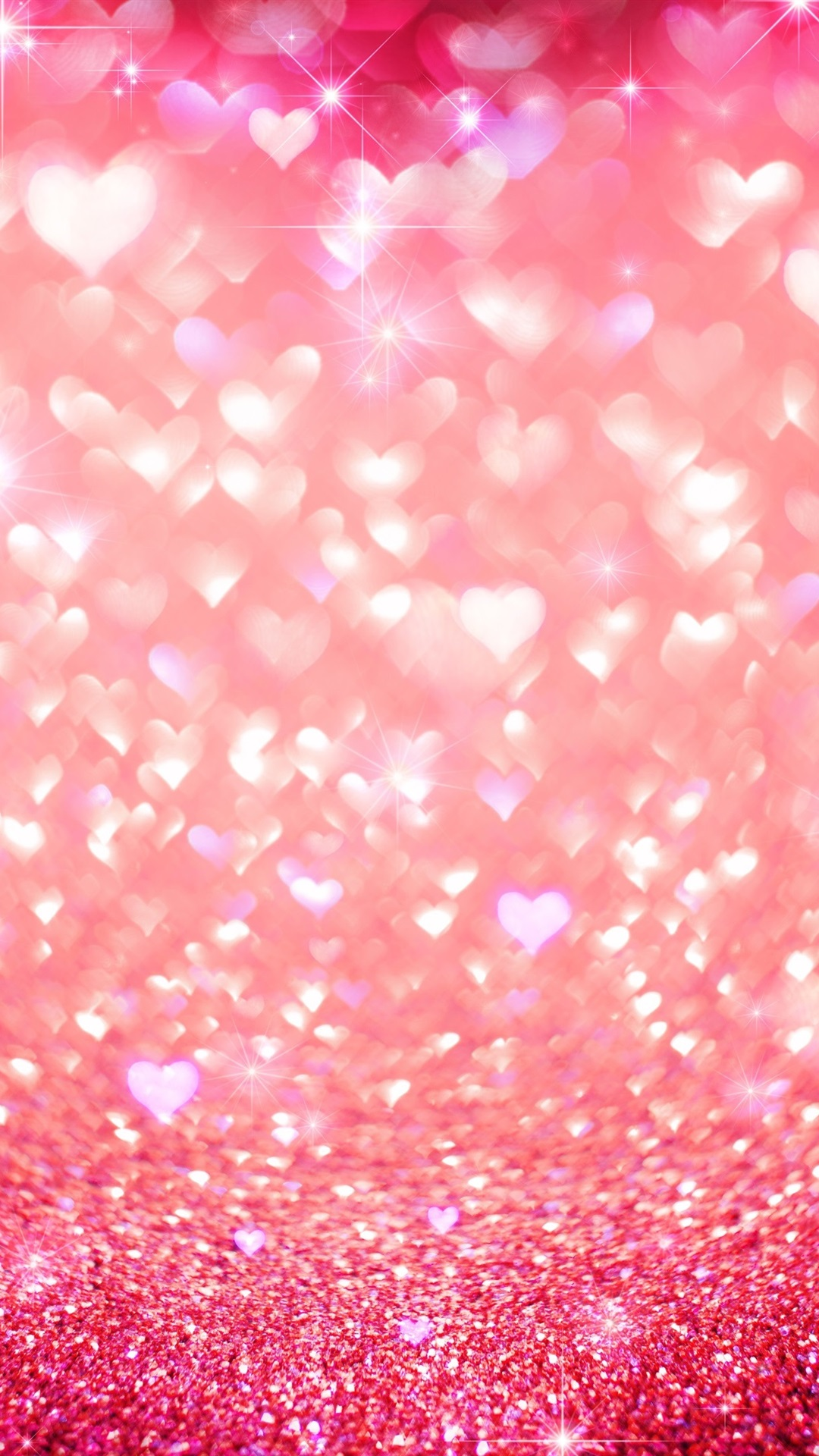 Pink Love Heart Shine Glitter 1080x1920 Iphone 8766s Plus